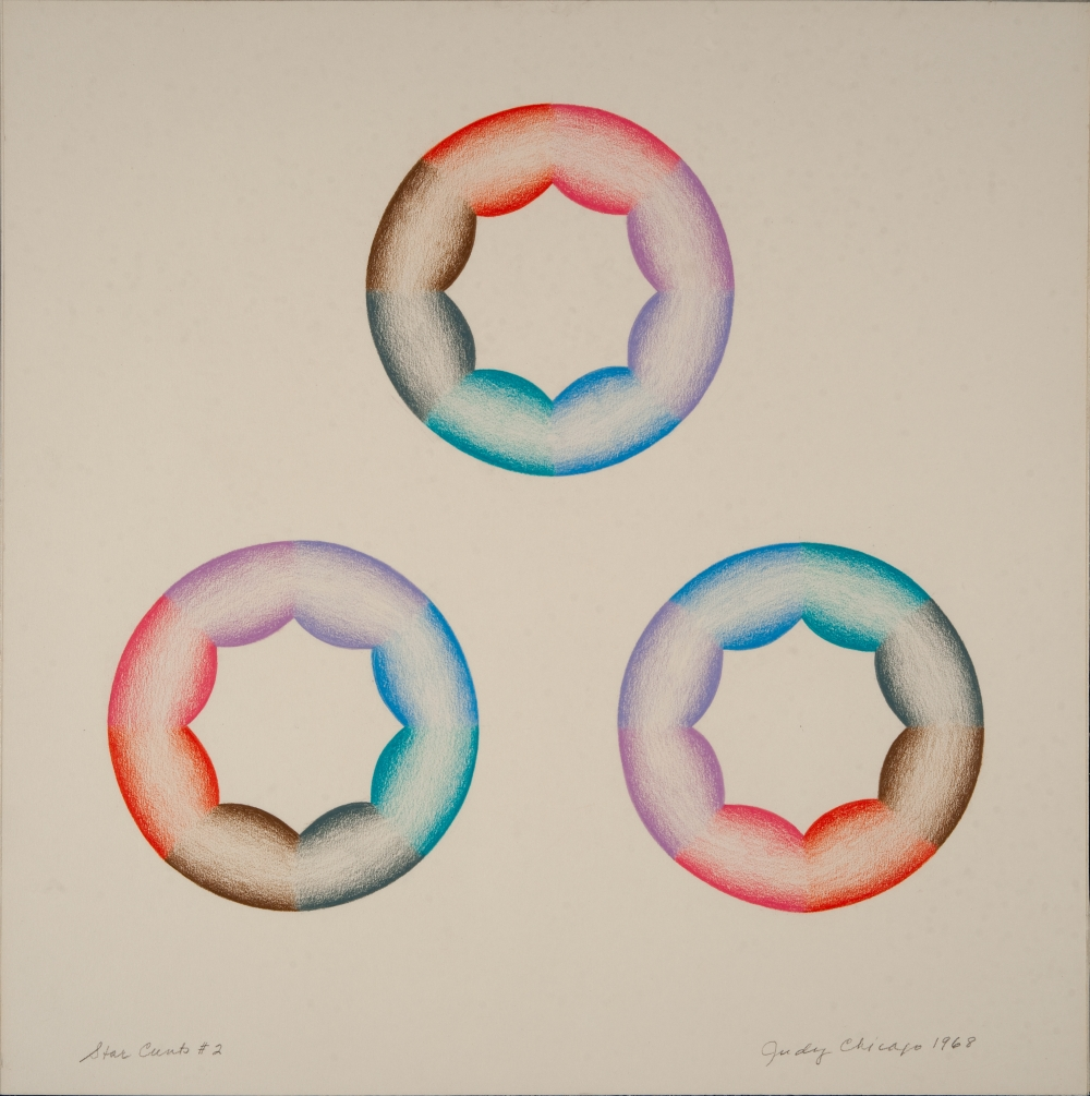 Star Cunts #2 © Judy Chicago, 1968 Prismacolor on paper 15.25 in. x 15.25 in. (38.74 cm x 38.74 cm) Photo © Donald Woodman